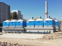 Biomass power plant cooling tower